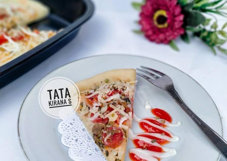 Pizza Teflon Happycall no telur, praktis & empuk