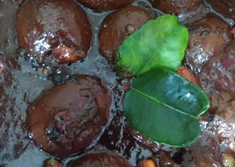 Telor cit (endog cit) khas Banyuwangi