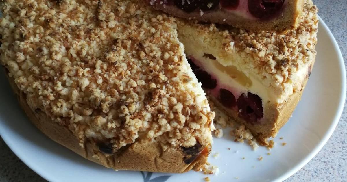 Творожно вишневый пирог рецепт
