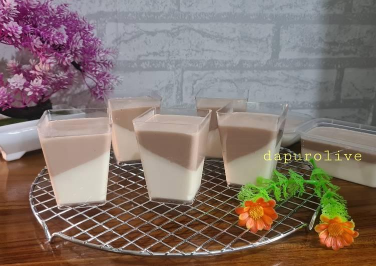 Pannacotta creamy vla tanpa gelatine