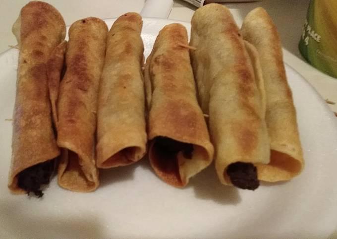 Recipe: Yummy Steak-n-Cheese Tacos (Flautas)