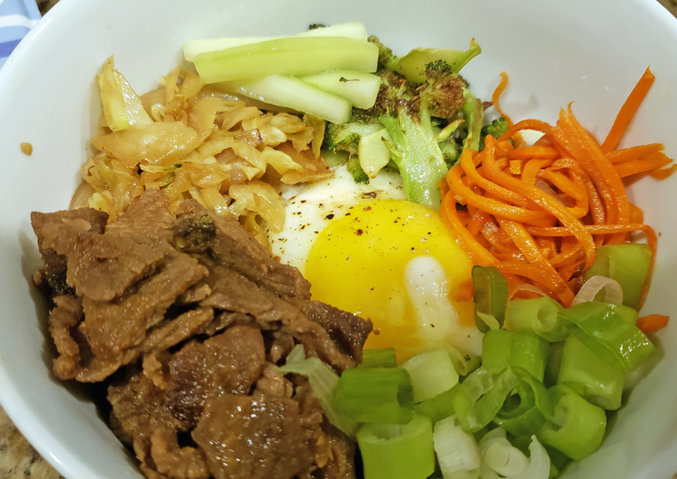 Recipe of Any-night-of-the-week Bibimbap with Bulgogi Beef