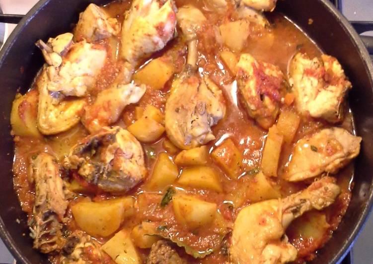 Pollo in umido con patate