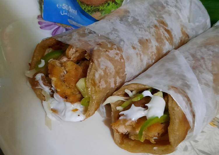 Crispy chicken paratha roll 🌯🌯