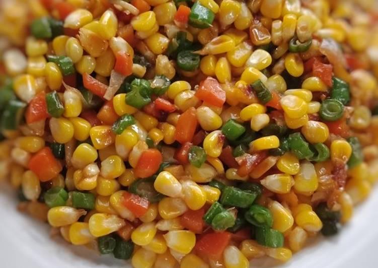 Tumis jagung buncis wortel