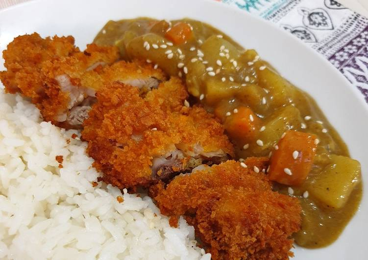 Japanese chicken curry rice (nasi ayam kari ala jepang)