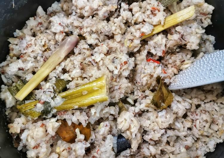 Nasi Uduk Beras Putih+Merah (Rice Cooker)