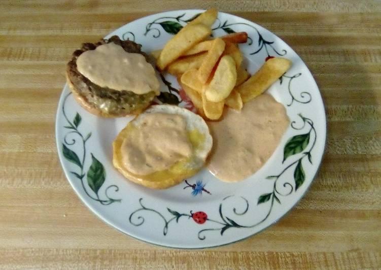 Recipe: Tasty Yum Yum Burger And Fry Sauce