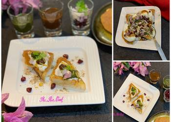 How to Make Delicious Besan aloo toastie chaat