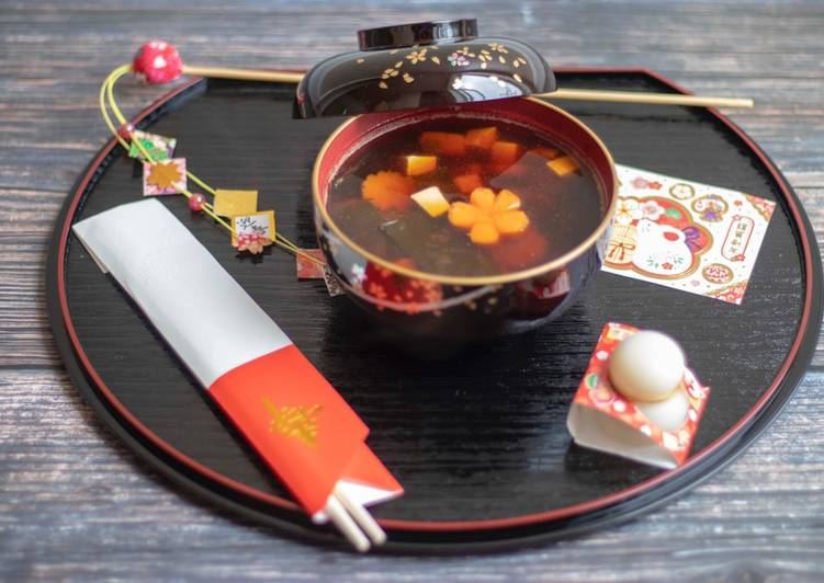 Japanese new year soup 2020 (Ozoni お雑煮)