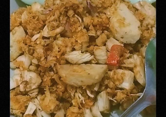 Nasi Goreng Oatmeal (oatmeal asin)