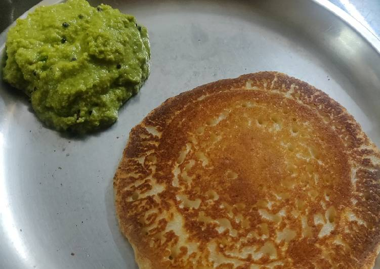 How to Prepare Speedy Instant rava coconut puda/aapam (pancake) with coconut chatani
