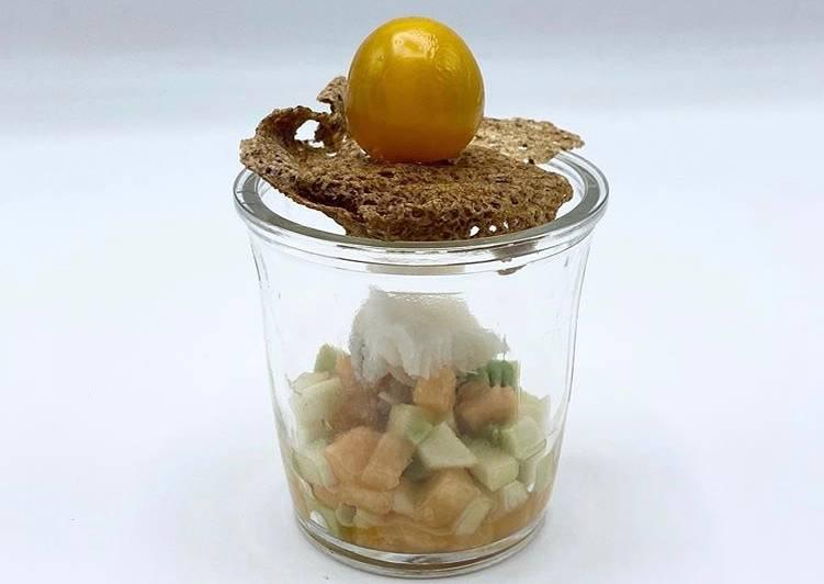Comment Cuisiner Verrines au Cabillaud et aux Fruits