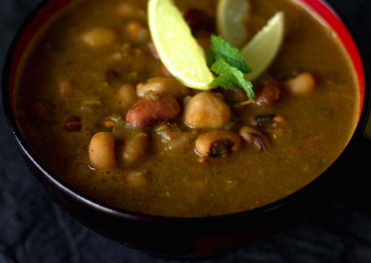 Steps to Make Super Quick Homemade Navratna dal – a mix ofnine lentils