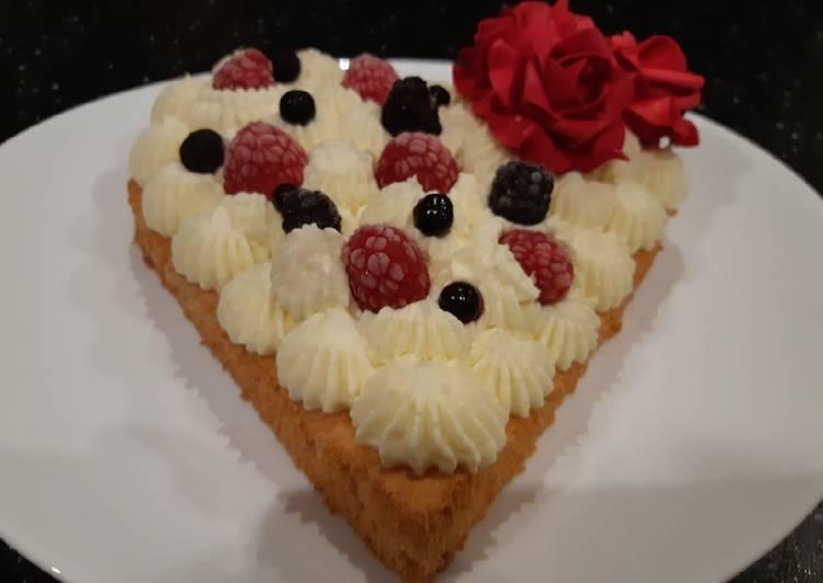 recette Gâteau d amour à la gauche montée au chocolat blanc délicieux
