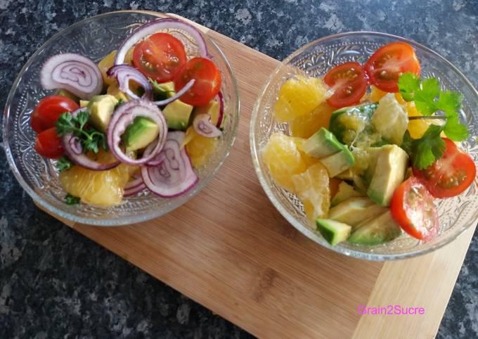 Salade d'avocat, agrumes, huile de noix & Xérèx