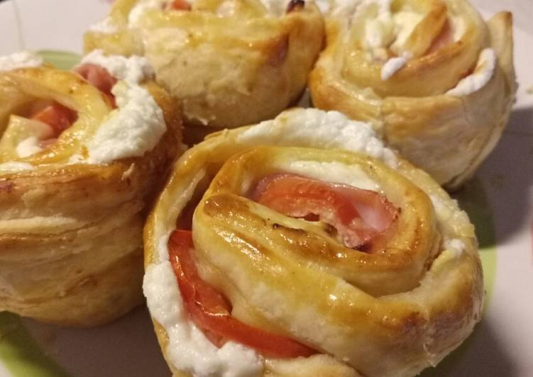 Easiest Way to Make Perfect Ham, tomato and goat's cheese roses