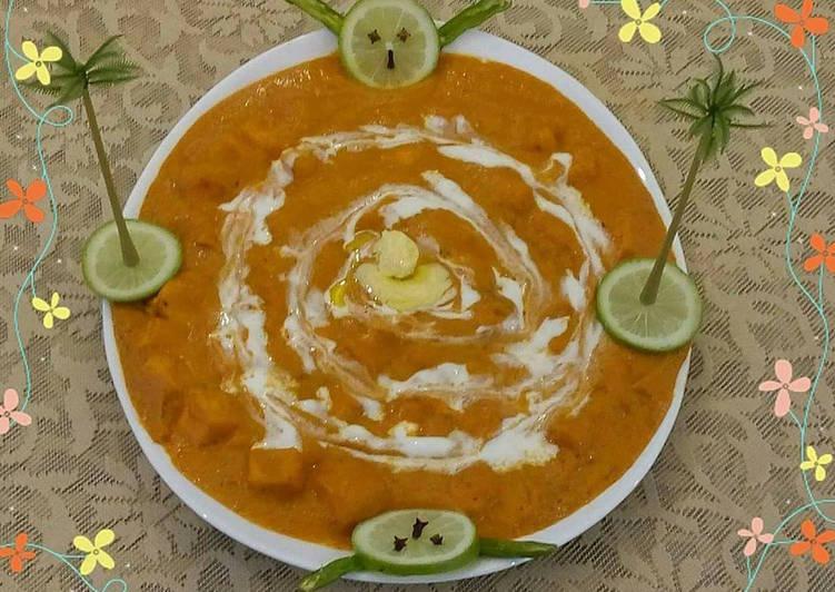 Butter paneer masala/paneer makhani/paneer makhanwala