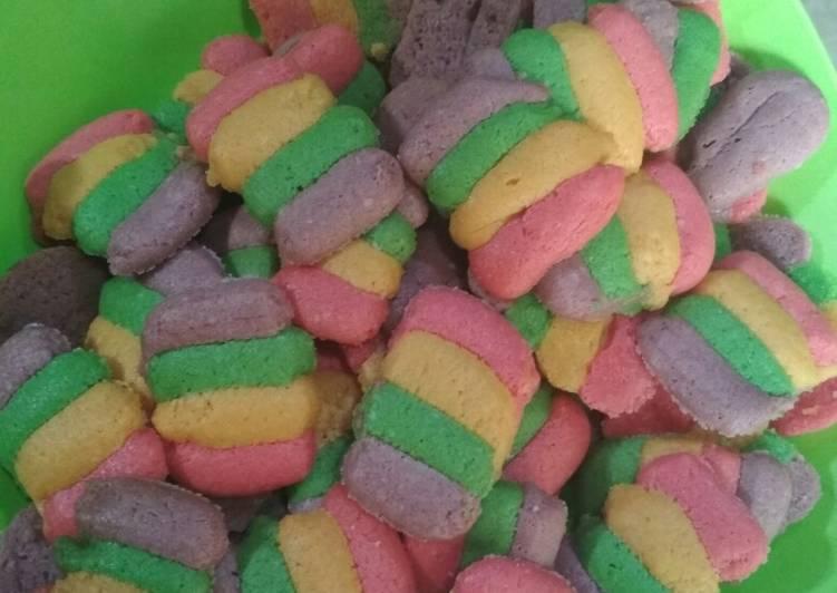 Lidah kucing rainbow tanpa cetakan