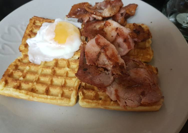 My Sweet Breakfast with Toasted Waffles. 🙄