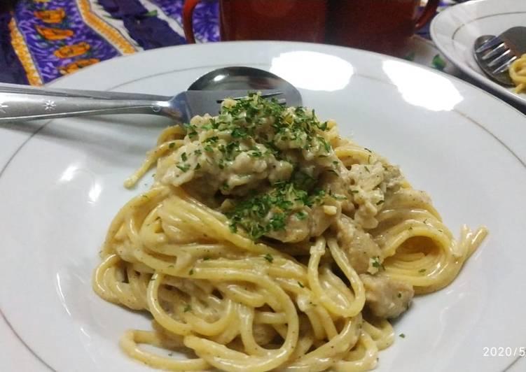 Spaghetti Carbonara dadakan yg males masak.