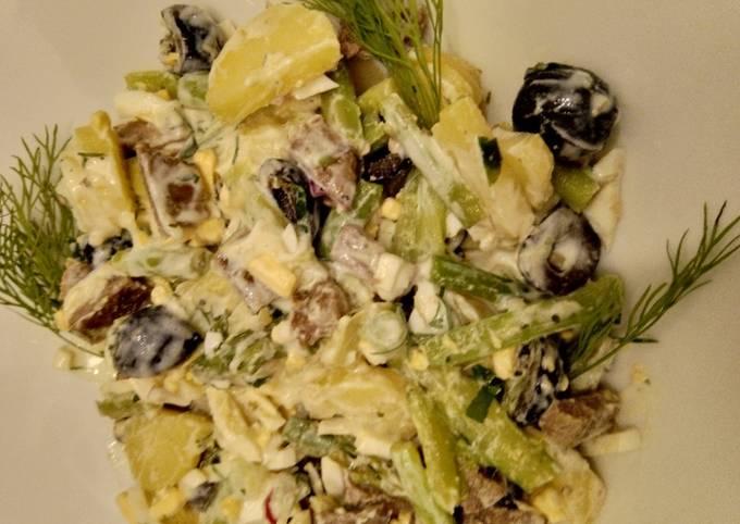 Grüner Spargel-Salat mit Allerlei