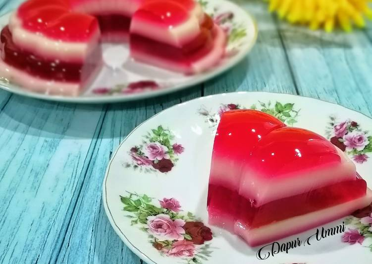 Agar-Agar Lapis Rose - resepipouler.com
