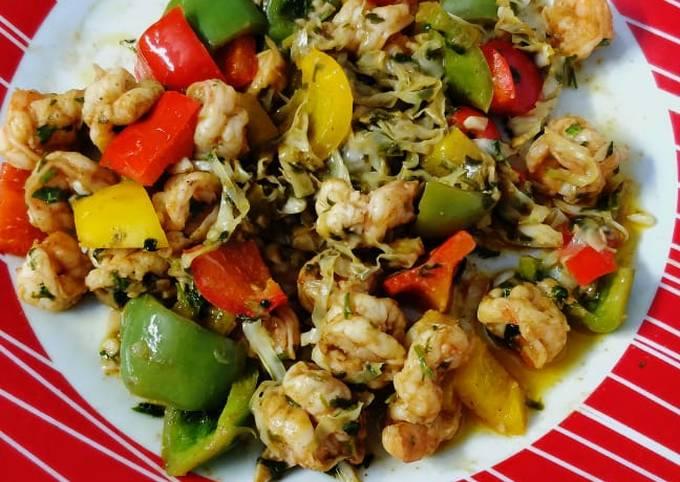 Keto chinese shrimp