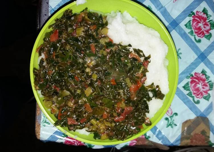 Recipe of Most Popular Morogo(Kale)