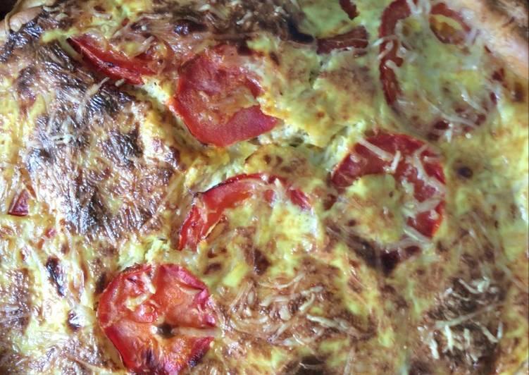 La Recette Pas à Pas Tarte au thon et aux tomates