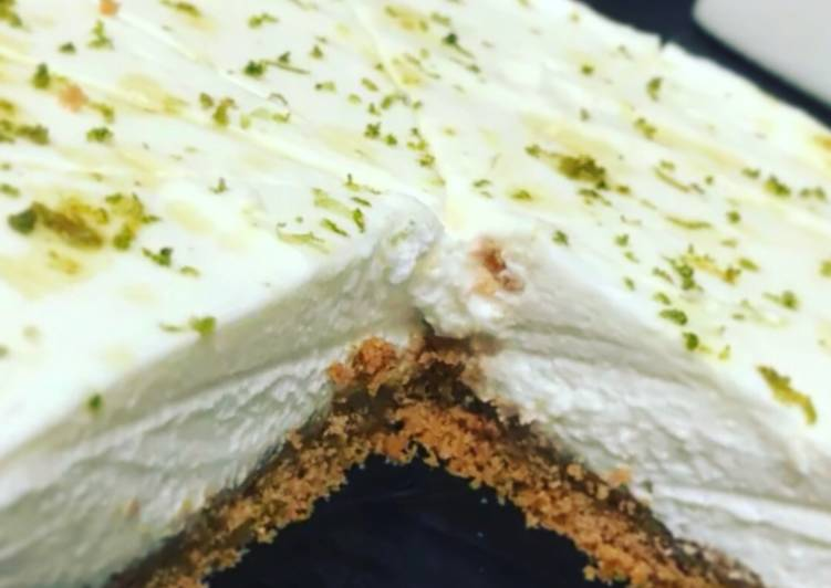 Steps to Make Speedy Lime and Ginger Cheesecake
