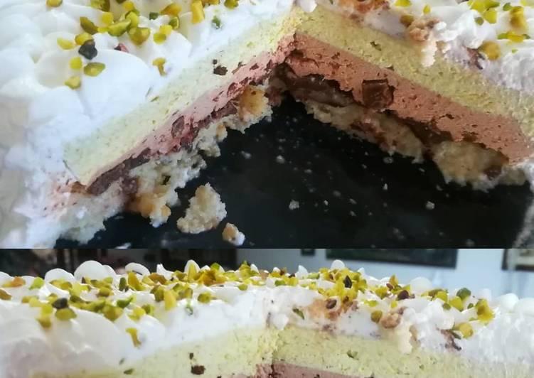 Ricetta Torta fredda cioccolato e pistacchio