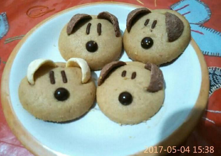 Cookies Bentuk Dog untuk Natal