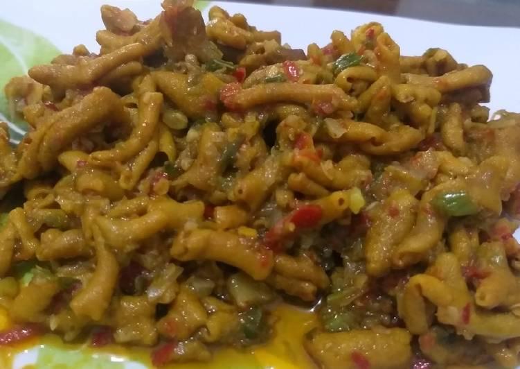 Cara masak Usus Ayam Rica - Rica , Enak