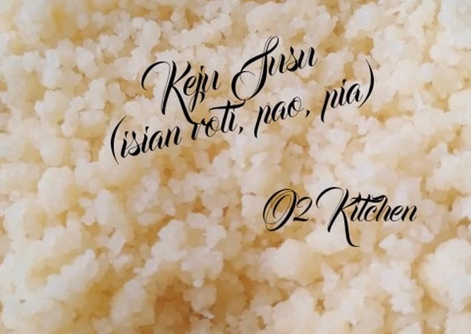Resep #043 Keju Susu (isian roti, pao, pia)