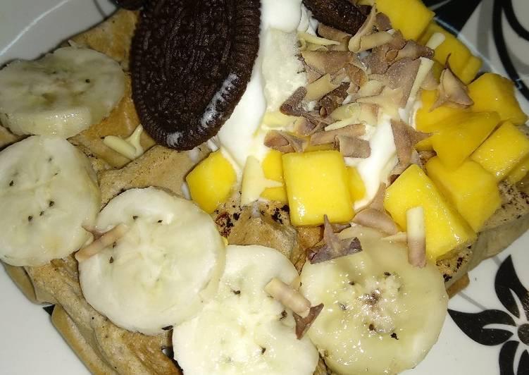 How to Prepare Quick Oats oreo Multigrain wheat ice cream waffle