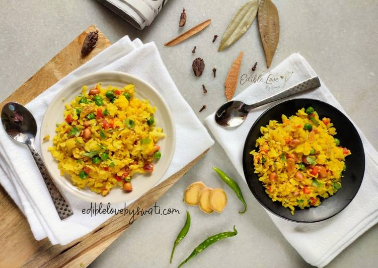 Chirer Pulao or Poha Pulao - Laurie G Edwards
