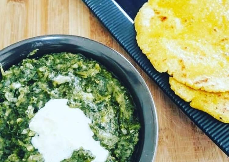 25 Minute Easiest Way to Prepare Cooking Sarson Da Saag Makki ki Roti