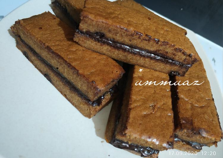 Choco layer cake / kue lapis cokelat