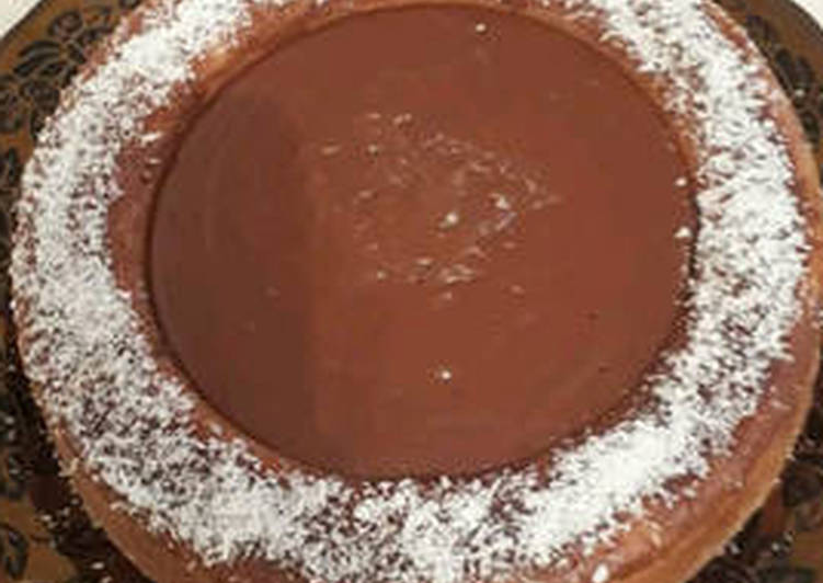 Recette De Gâteau flan caramel et chokola noir
