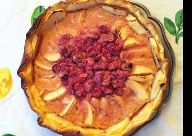 Comment faire Préparer Délicieux Tarte pommes et cerises du jardin