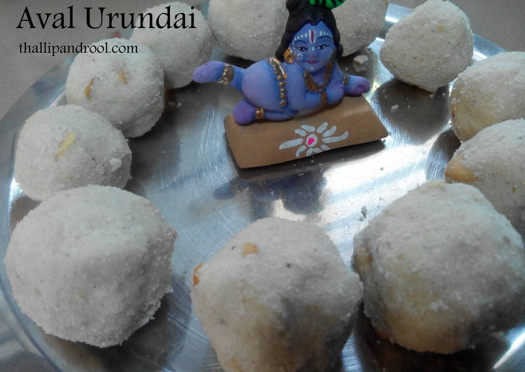15 Minute Simple Way to Make Blends Aval Urundai / Poha Laddoo