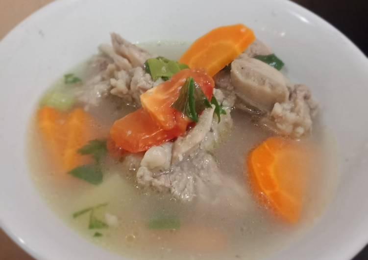 Sop Iga sayuran (wortel, kentang)