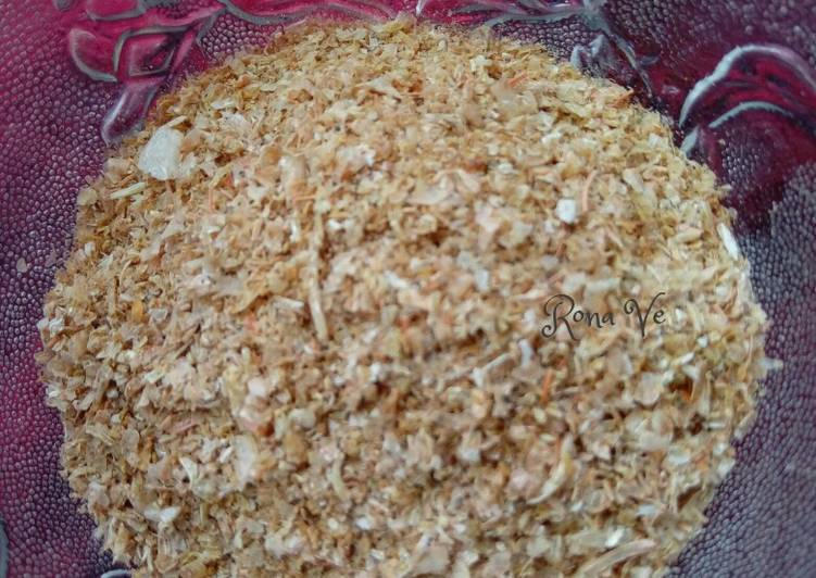 Kaldu bubuk udang homemade