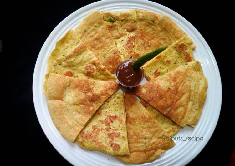 Gram flour egg pancake