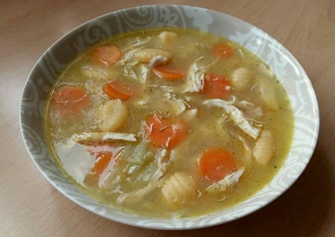 Vickys Chicken & Gnocchi Soup, GF DF EF SF NF