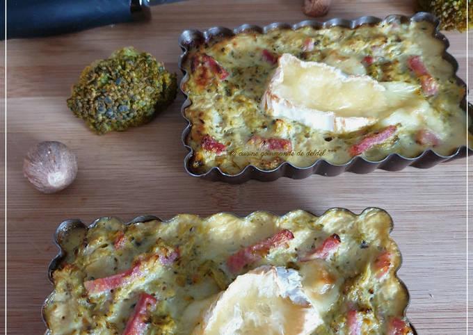 Quiche sans pâte aux brocolis  et camembert,allégée