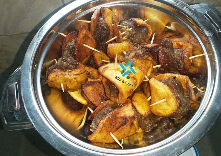 Plantain kebabs