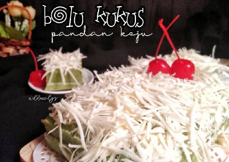 Bolu Kukus Pandan Keju (2telur, no mixer)