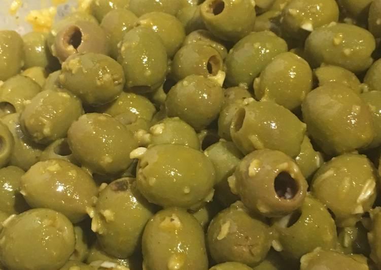 Les olives à l'indienne!